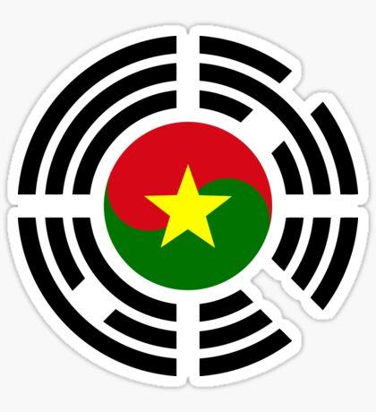 Korean Burkina Faso Multinational Patriot Flag Series Sticker