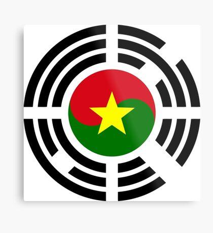 Korean Burkina Faso Multinational Patriot Flag Series Metal Print