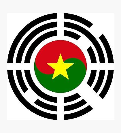 Korean Burkina Faso Multinational Patriot Flag Series Photographic Print