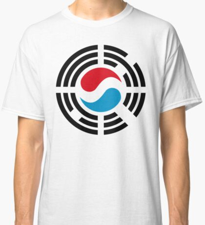 Korean Luxembourg Multinational Patriot Flag Series Classic T-Shirt