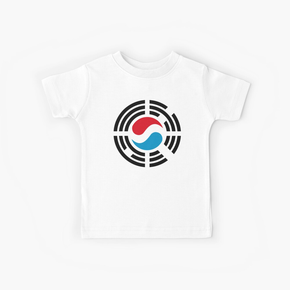 Korean Luxembourg Multinational Patriot Flag Series Kids T-Shirt