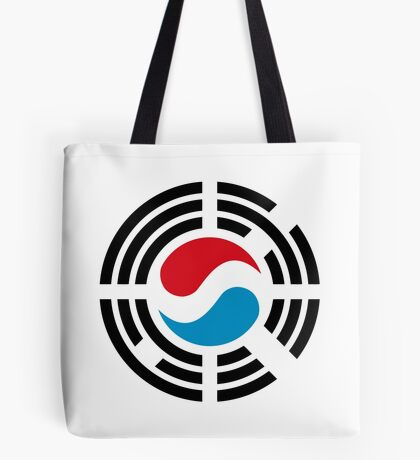Korean Luxembourg Multinational Patriot Flag Series Tote Bag