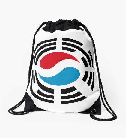 Korean Luxembourg Multinational Patriot Flag Series Drawstring Bag