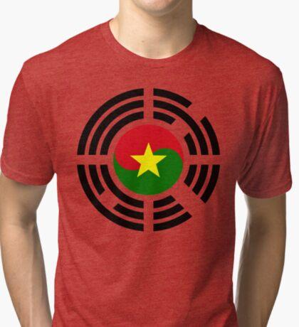 Korean Burkina Faso Multinational Patriot Flag Series Tri-blend T-Shirt
