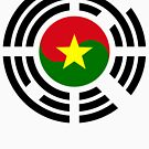 Korean Burkina Faso Multinational Patriot Flag Series by Carbon-Fibre Media