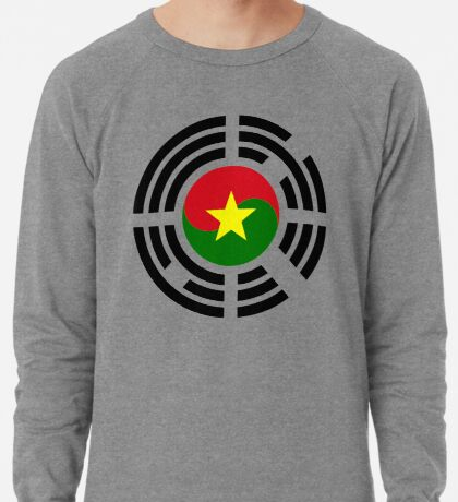 Korean Burkina Faso Multinational Patriot Flag Series Lightweight Sweatshirt