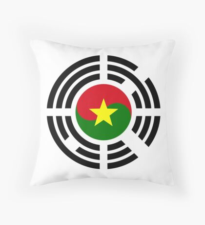 Korean Burkina Faso Multinational Patriot Flag Series Throw Pillow