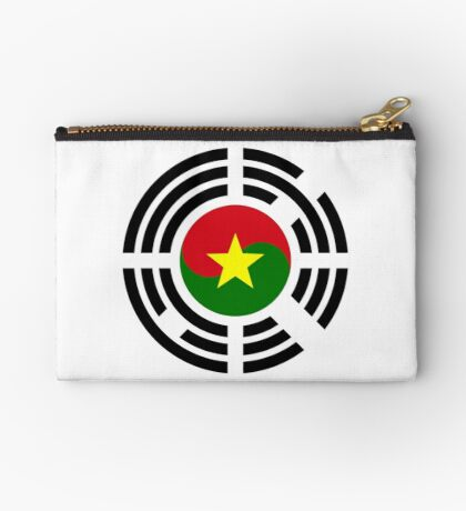 Korean Burkina Faso Multinational Patriot Flag Series Zipper Pouch