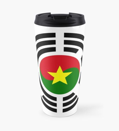 Korean Burkina Faso Multinational Patriot Flag Series Travel Mug