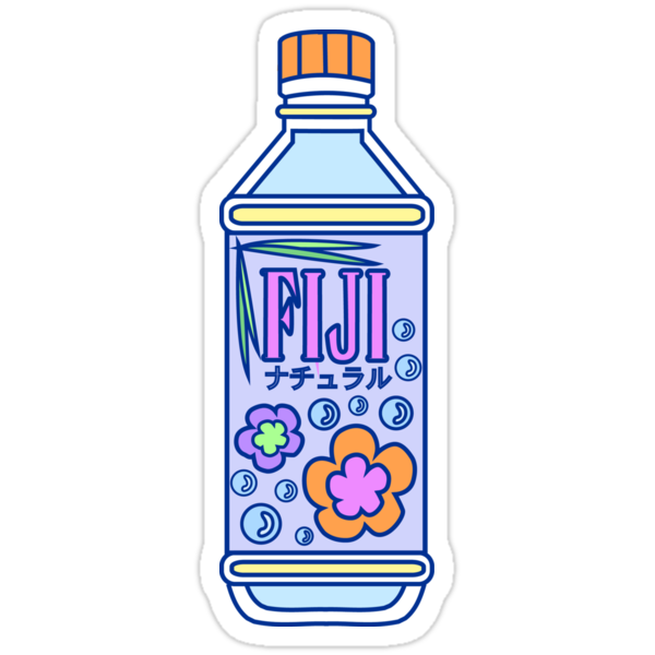 Quot Aesthetic Fiji Water Bottle Quot Stickers By Pennysoda