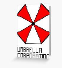 Umbrella Corporation pixel logo Greeting Card