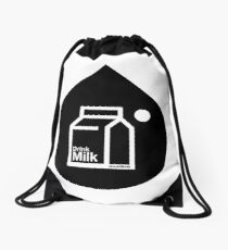 Milk - (Black) Drawstring Bag