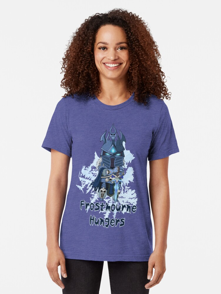 Alternate view of Frostmourne Hungers Tri-blend T-Shirt