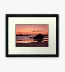 Mystery Beach Framed Print