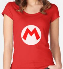 Mario Symbol Women's Fitted Scoop T-Shirt