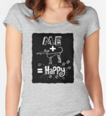 The Happiness Equation Women's Fitted Scoop T-Shirt