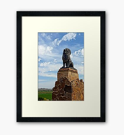 Lion on Grotto Hill Framed Print