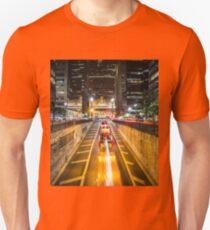 Urban Tunnel City Lights Night Scenery Unisex T-Shirt