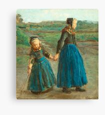 VIGGO JOHANSEN, TWO GIRLS Canvas Print