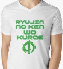 Ryujin no ken wa kurae! Men's V-Neck T-Shirt