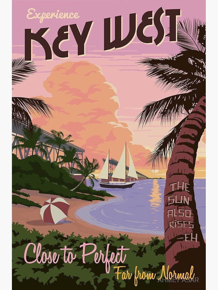 Vintage Key West Travel Poster by motionage