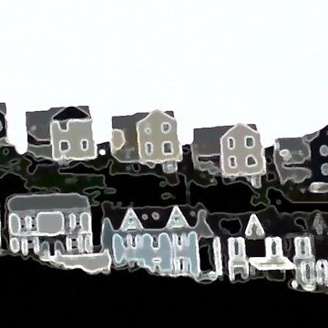 Painted little houses by wannabewriter81