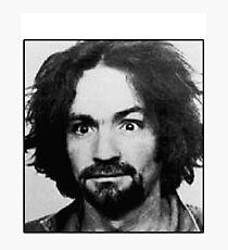 Charles Manson Mugshot Photographic Print