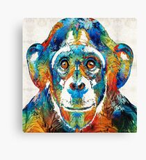 Bunte Chimp Art - Monkey Business - von Sharon Cummings Leinwanddruck