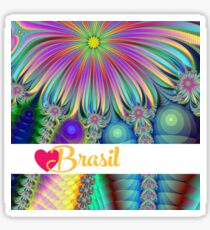 Fractory: God Bless Brasilian Nights - Hello Rio - Love Brasil Sticker