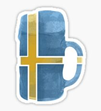 Sweden Beer Flag Sticker