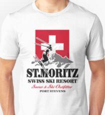 St. Moritz - Ski Alpine - Swiss flag Unisex T-Shirt