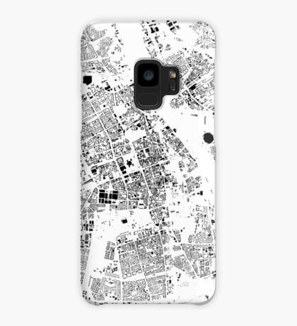 Warszawa Map Schwarzplan Only Buildings Urban Plan Case/Skin for Samsung Galaxy