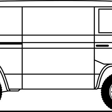Type 25 or T3 Syncro van line art by diamondhell