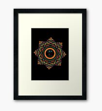 Ethnic flower Framed Print