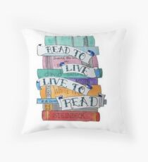 Read to live - live to read Throw Pillow