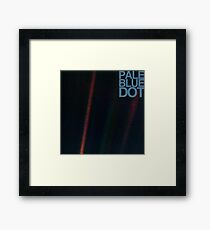 Pale Blue Dot  ( Earth from voyager ) Framed Print