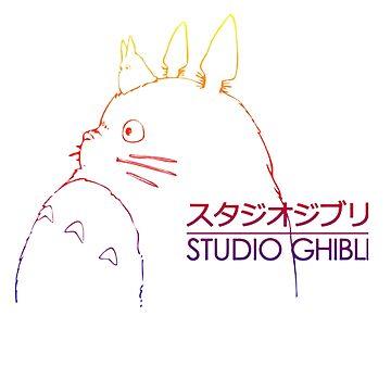 Studio ghibli Totoro by Downyart