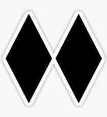 DOPPELTER SCHWARZER DIAMANT-SKIFAHRER-NUR SKIFAHRER Sticker