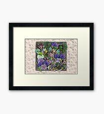 Succulent garden display Framed Print