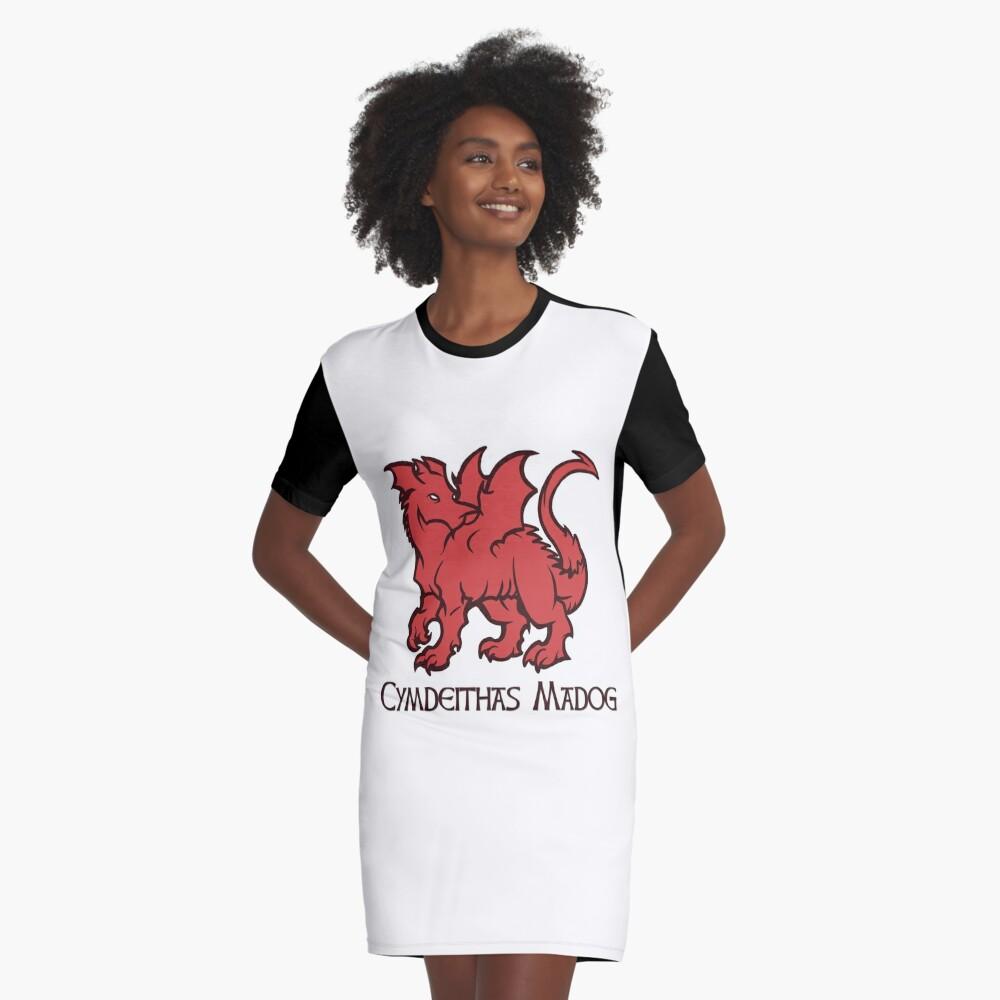 Draig Cymdeithas Madog  Graphic T-Shirt Dress Front