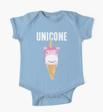 Unicone Unicorn Ice Cream T Shirt One Piece - Short Sleeve