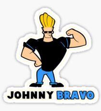johnny bravo Sticker