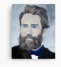 HERMAN MELVILLE - oil portrait Canvas Print