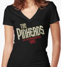 The Pinheads - Just Too Darn Loud Tour 1985 Women's Fitted V-Neck T-Shirt