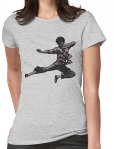 Kung Fu character series Womens Fitted T-Shirt