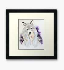 Wolf Totem - Totem Series Framed Print