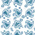 Amoebic Paisley Blue Green 2 by Edward Huse