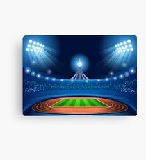 Stadium Background 2016 Summer Games Canvas Print