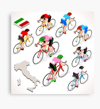 Cyclists Giro Italia Canvas Print