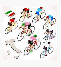Cyclists Giro Italia Photographic Print
